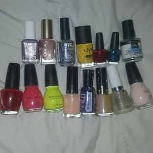 15 nail polishes. OPI, ESSIE and MORE.